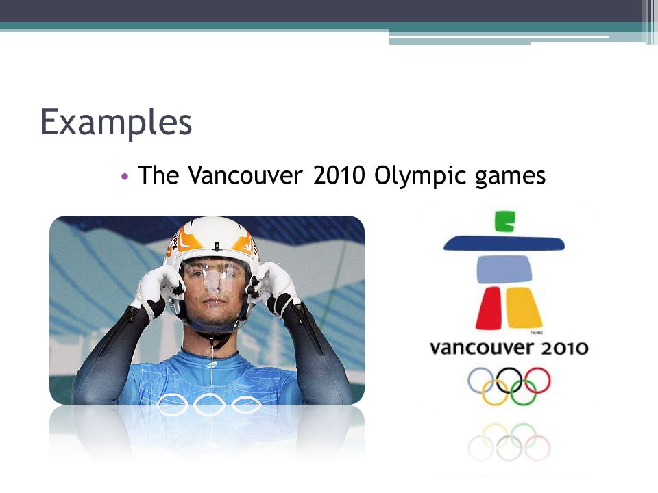 The Vancouver 2010 Olympic games