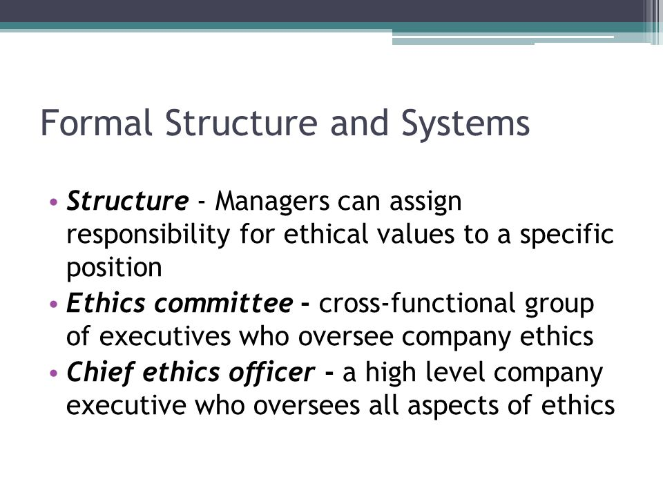 Formal Structure and Systems
