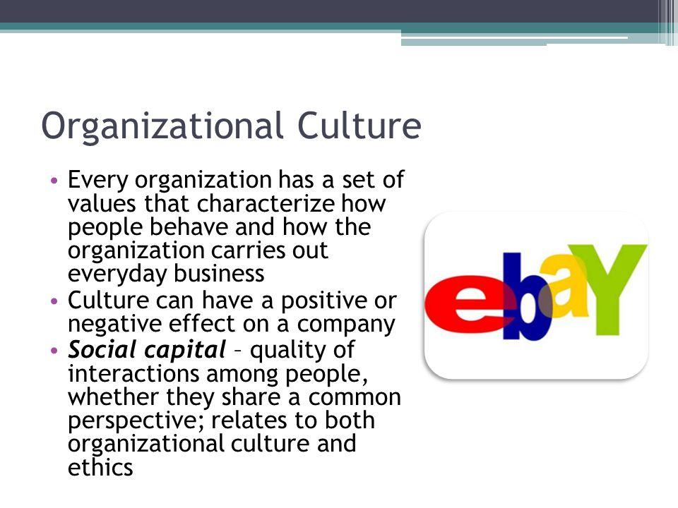 Company culture and ethics