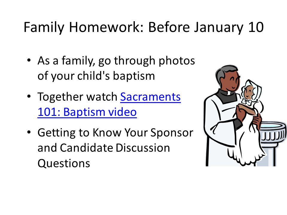 Family Homework: Before January 10