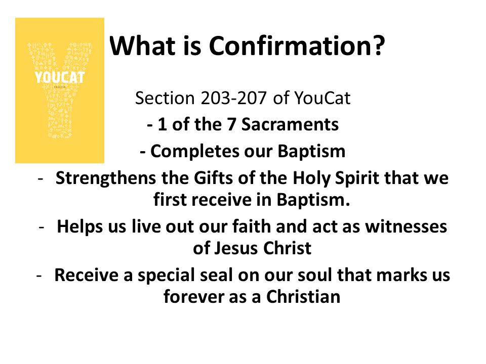 What is Confirmation Section 203-207 of YouCat