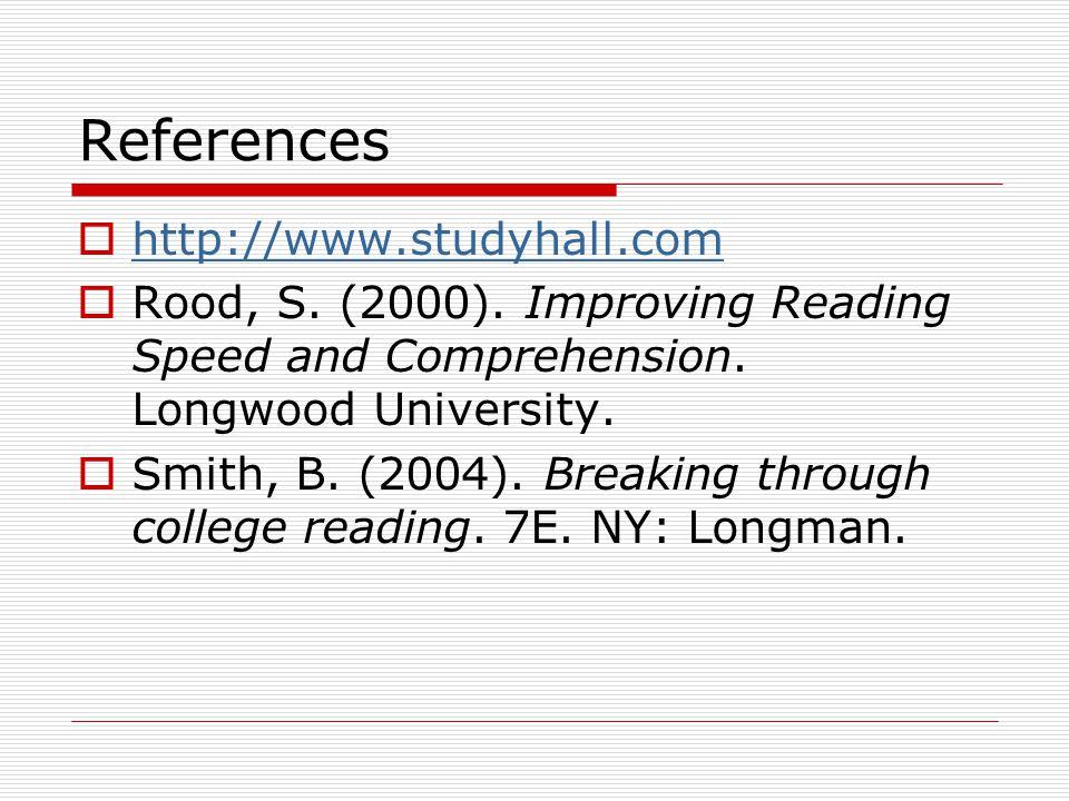 References http://www.studyhall.com