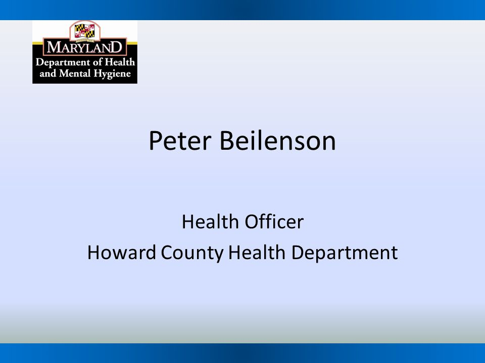 Health Officer Howard County Health Department