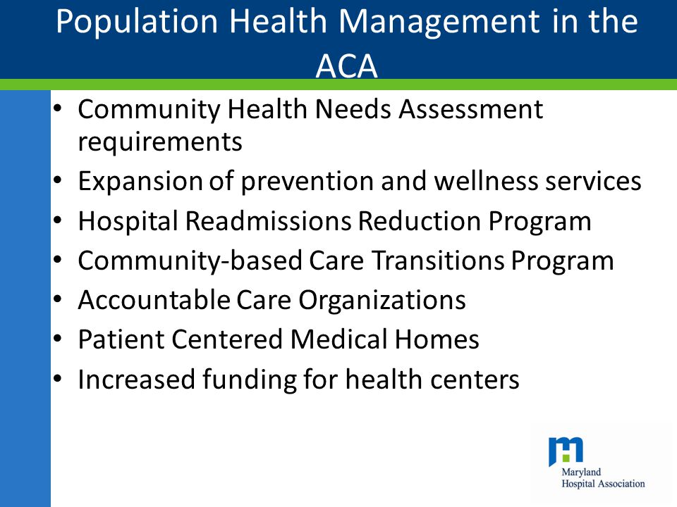 Population Health Management in the ACA