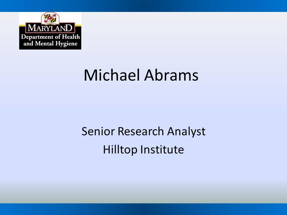 Senior Research Analyst Hilltop Institute