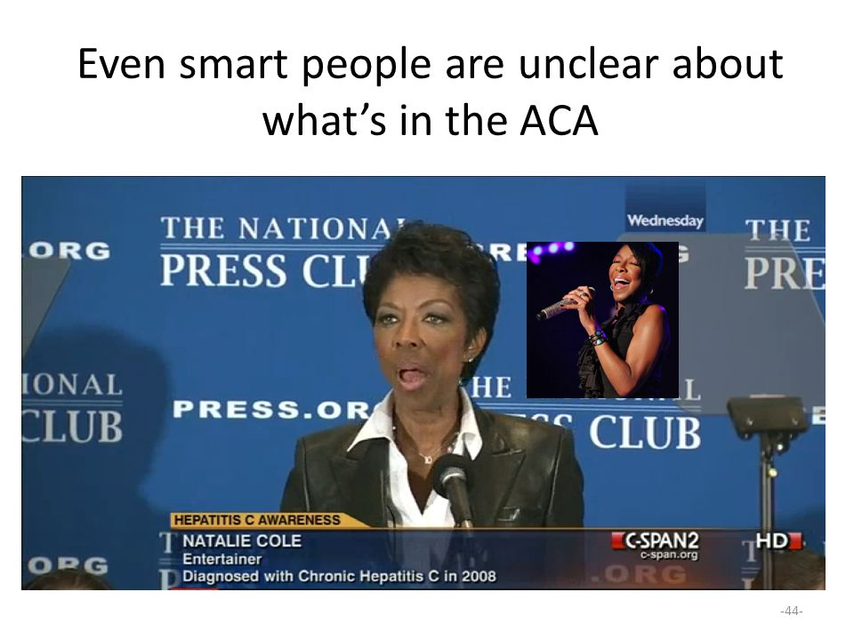 Even smart people are unclear about what's in the ACA
