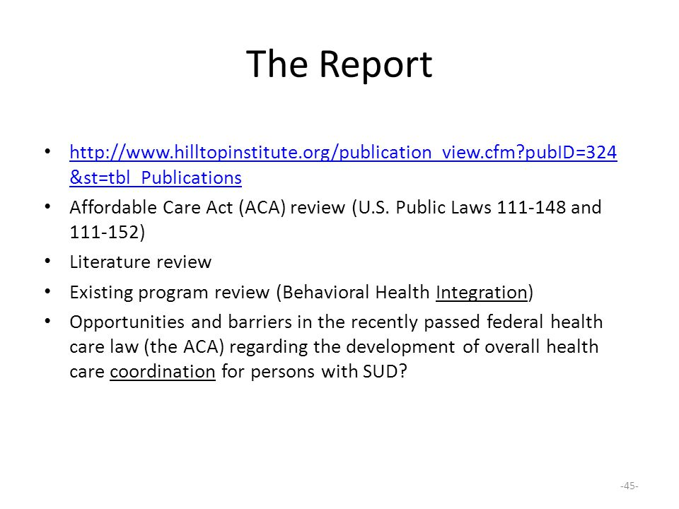 The Report http://www.hilltopinstitute.org/publication_view.cfm pubID=324&st=tbl_Publications.