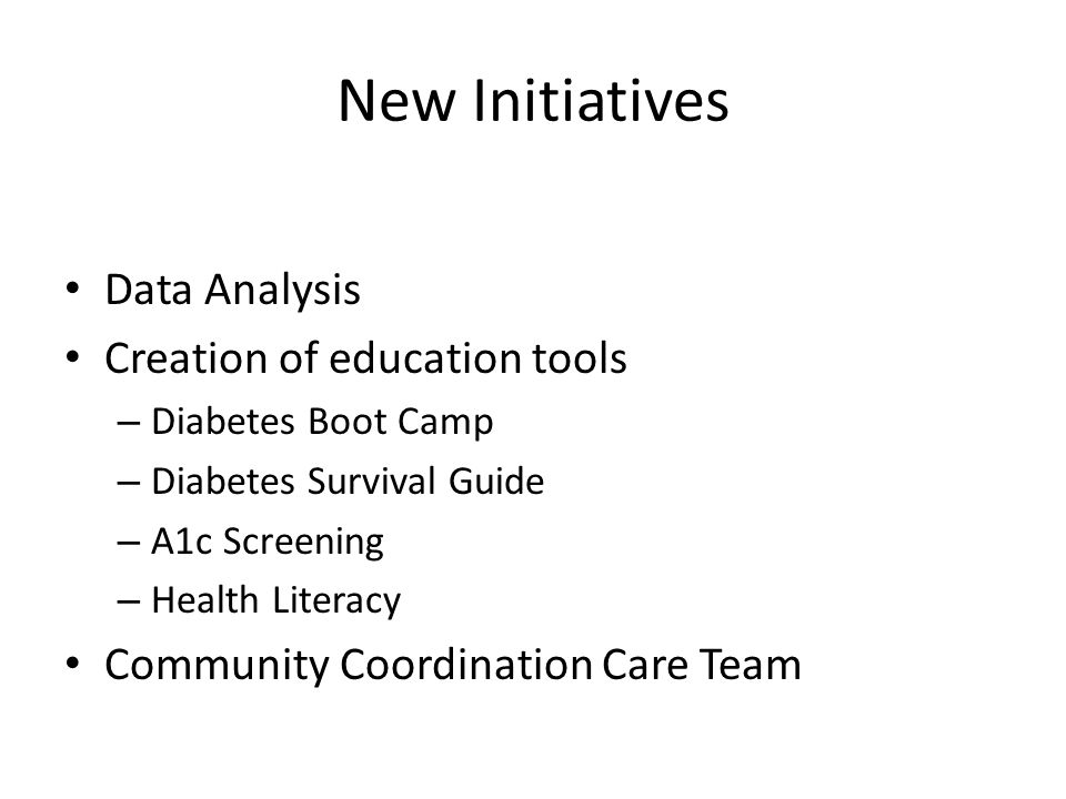 New Initiatives Data Analysis Creation of education tools