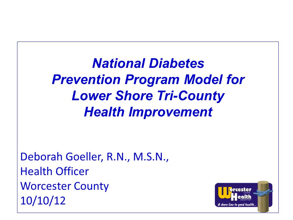 Prevention Program Model for Lower Shore Tri-County