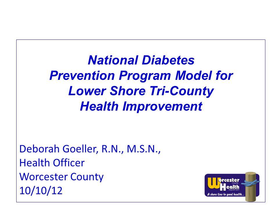 Prevention Program Model for Lower Shore Tri-County