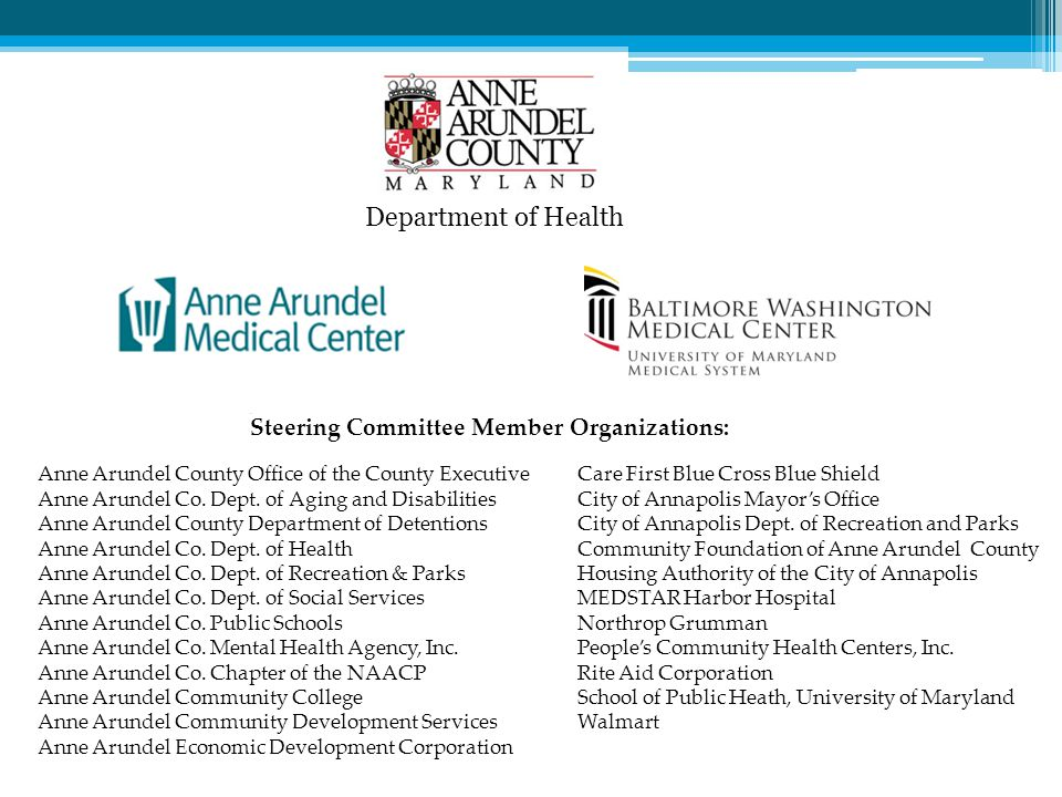 Department of Health Steering Committee Member Organizations:
