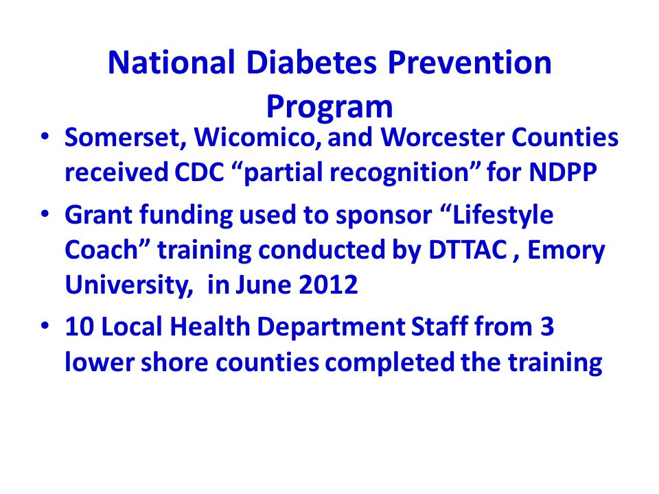 National Diabetes Prevention Program