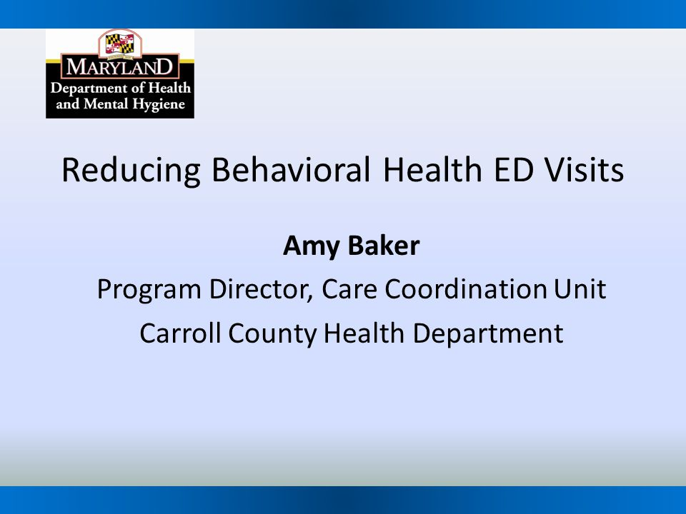 Reducing Behavioral Health ED Visits