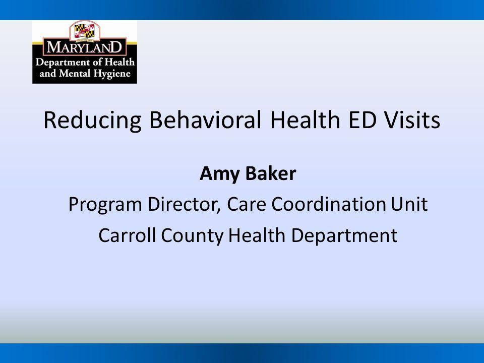 Reducing Behavioral Health ED Visits