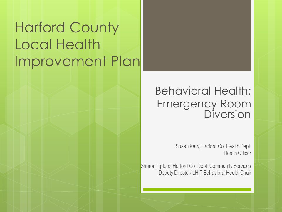 Harford County Local Health Improvement Plan
