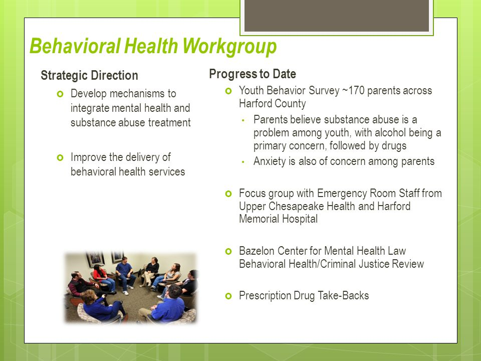 Behavioral Health Workgroup
