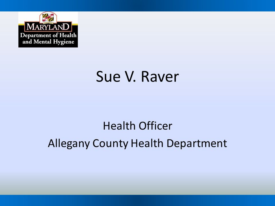 Health Officer Allegany County Health Department