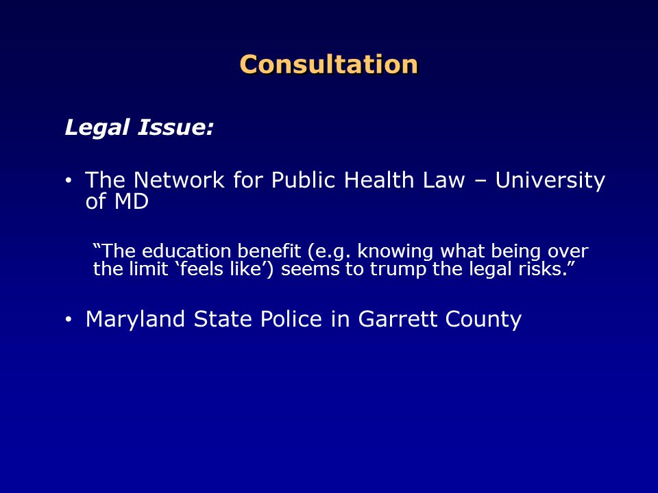 Consultation Legal Issue: