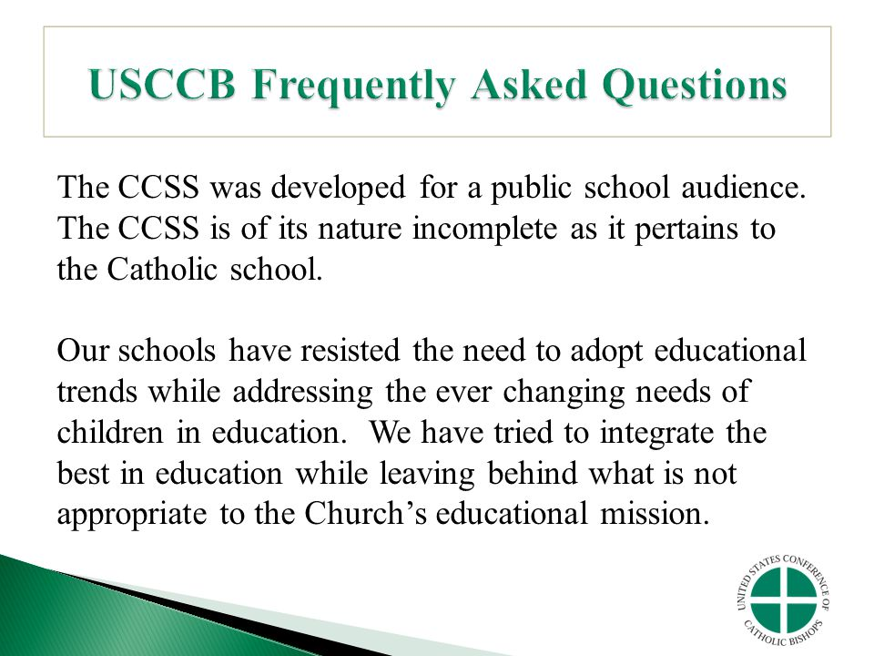 USCCB Frequently Asked Questions