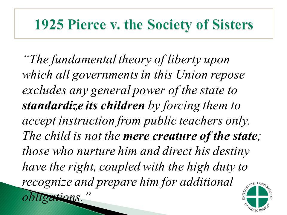 1925 Pierce v. the Society of Sisters