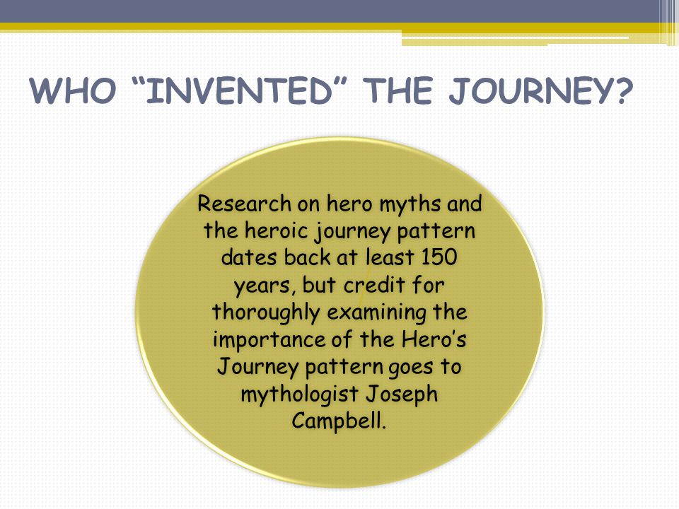 WHO INVENTED THE JOURNEY