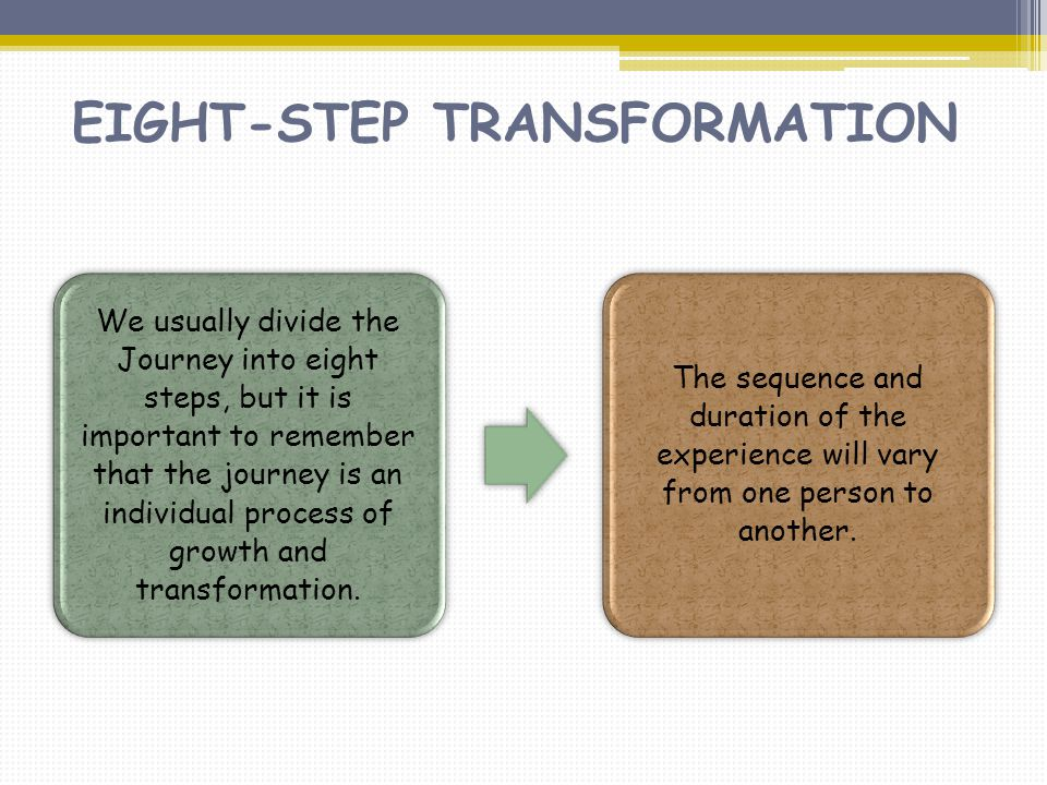 EIGHT-STEP TRANSFORMATION