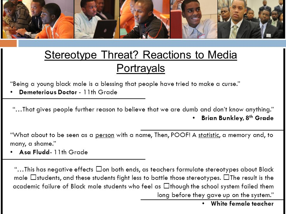 Stereotype Threat Reactions to Media Portrayals