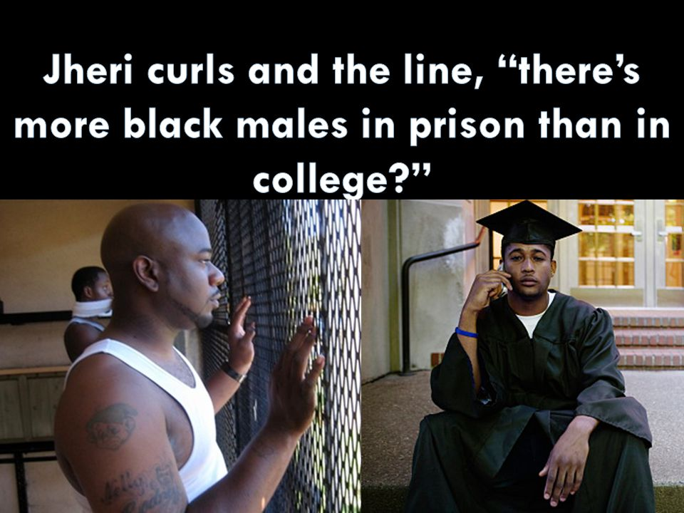 Jheri curls and the line, there's more black males in prison than in college