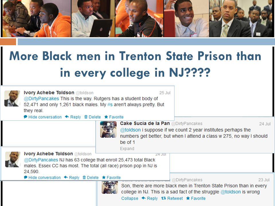 More Black men in Trenton State Prison than in every college in NJ