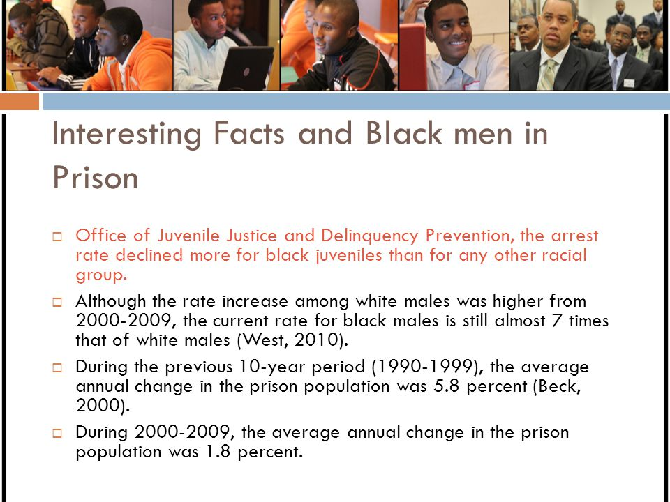 Interesting Facts and Black men in Prison