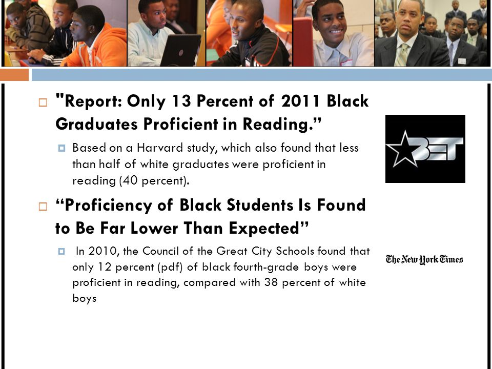 Proficiency of Black Students Is Found to Be Far Lower Than Expected