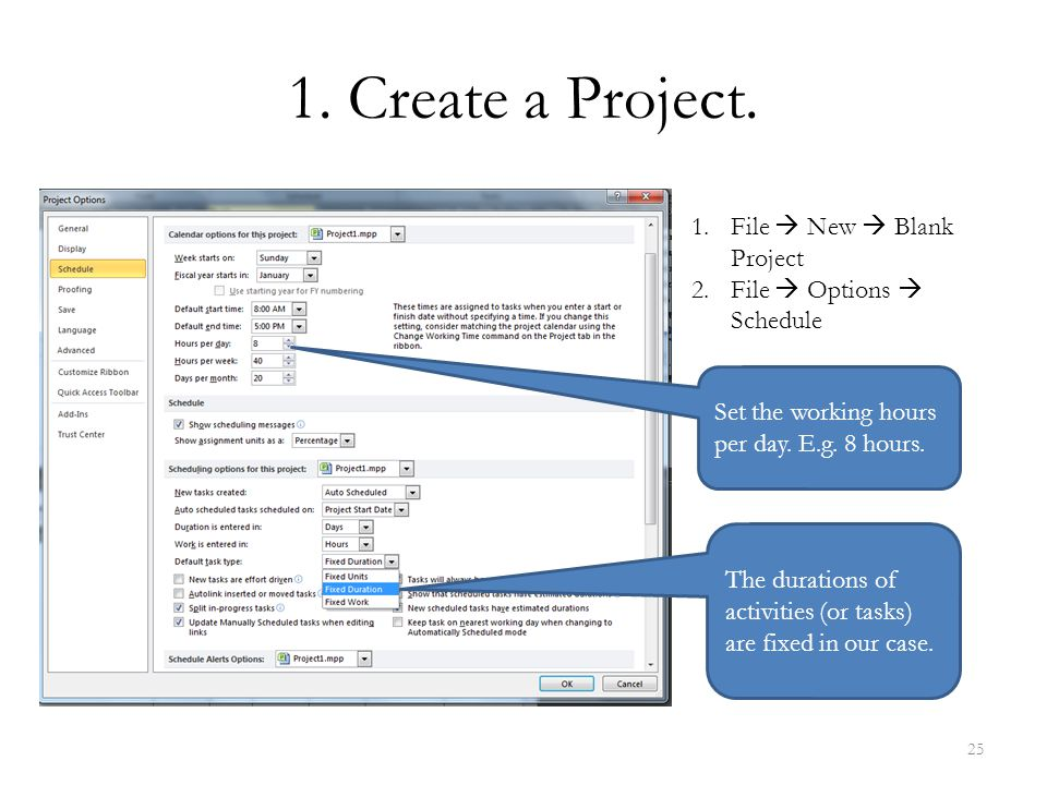 1. Create a Project. File  New  Blank Project