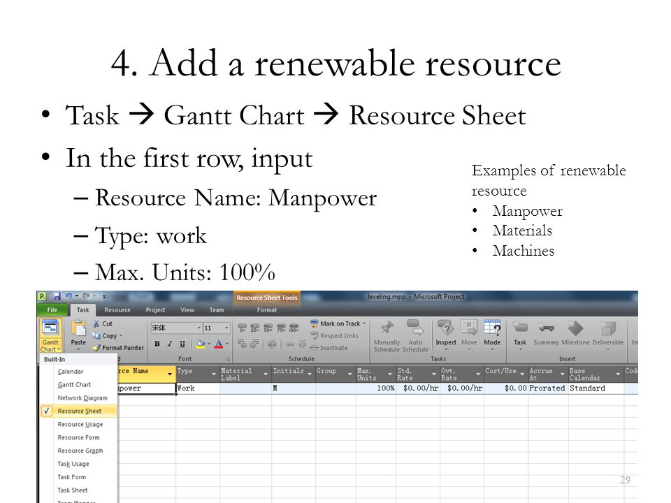 4. Add a renewable resource