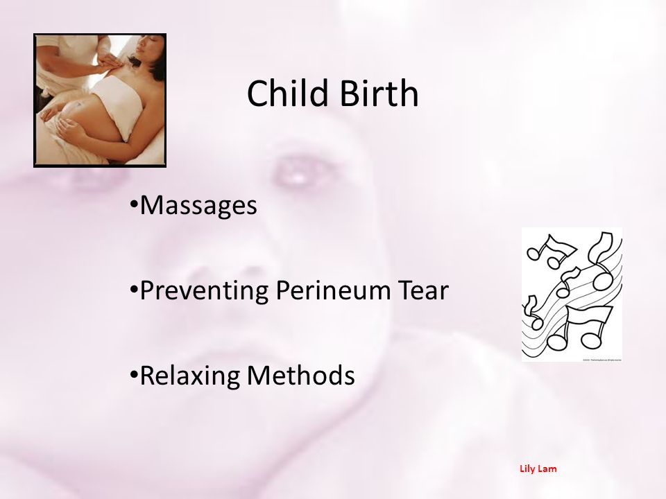 Massages Preventing Perineum Tear Relaxing Methods