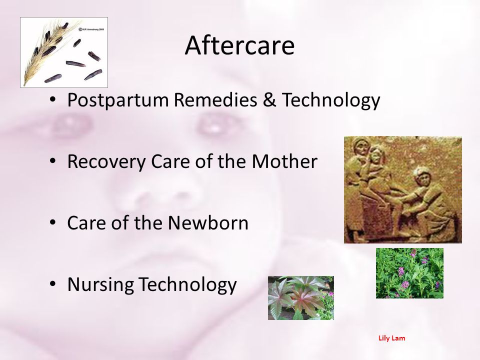 Aftercare Postpartum Remedies & Technology Recovery Care of the Mother