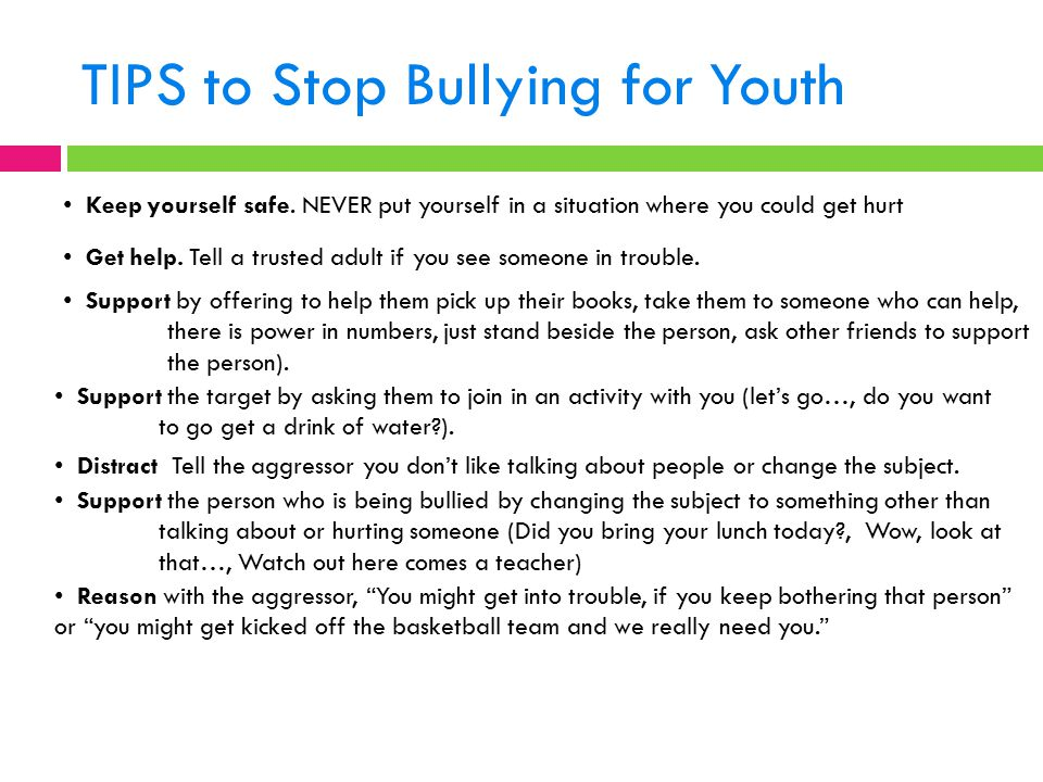 TIPS to Stop Bullying for Youth