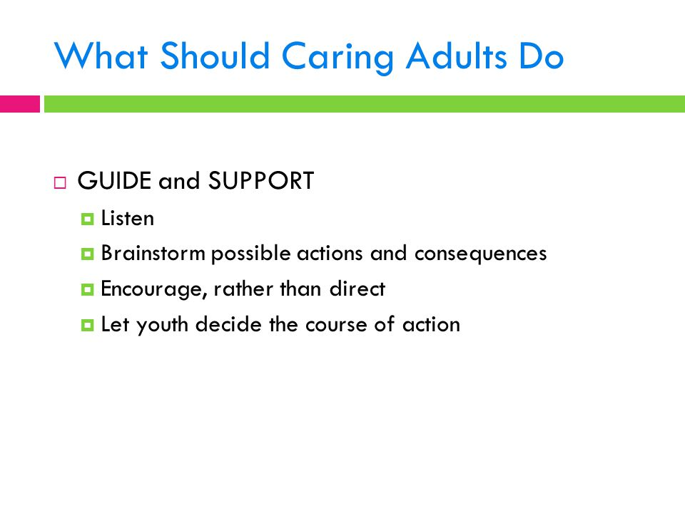 What Should Caring Adults Do