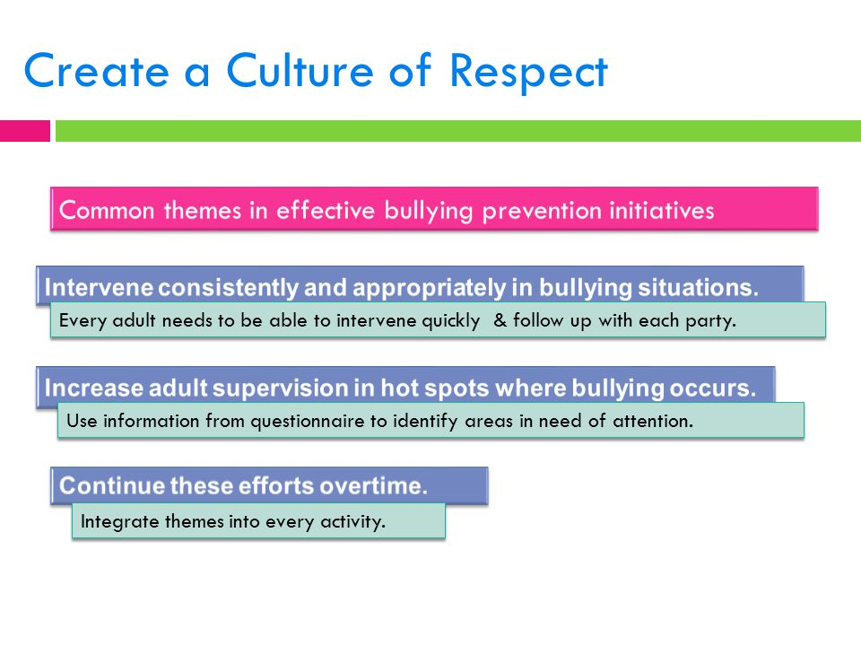 Create a Culture of Respect