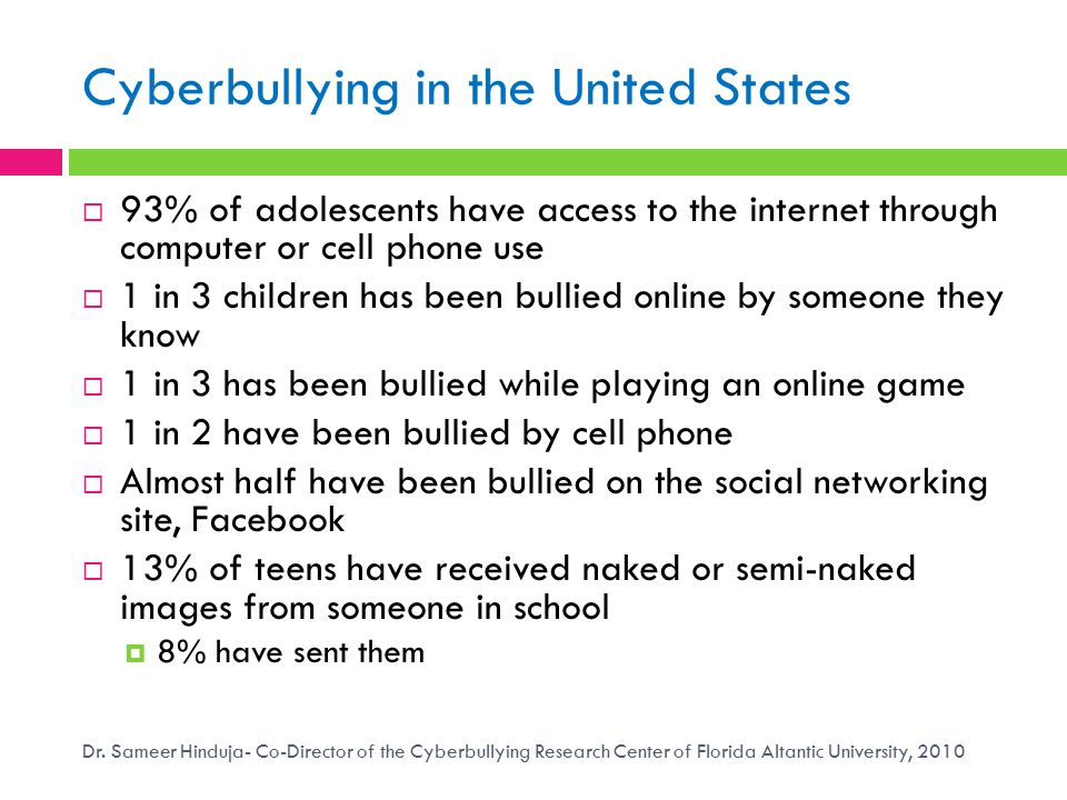 Cyberbullying in the United States