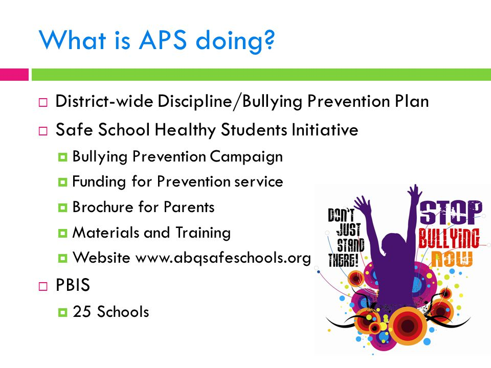 What is APS doing District-wide Discipline/Bullying Prevention Plan