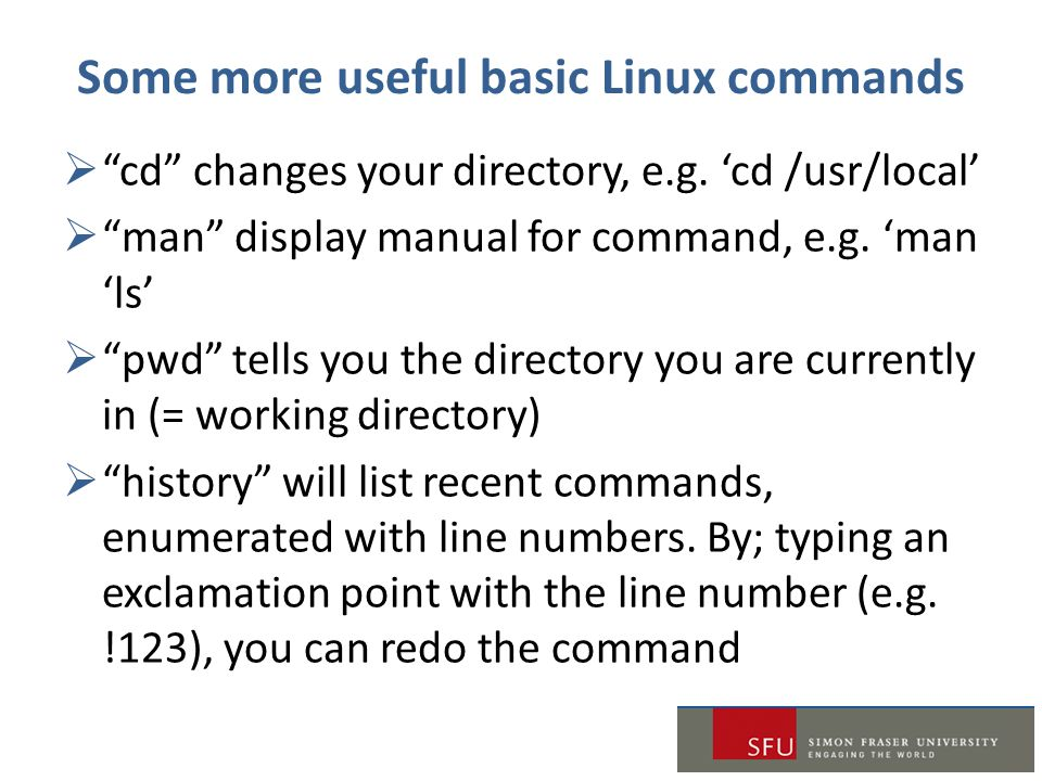 Some more useful basic Linux commands