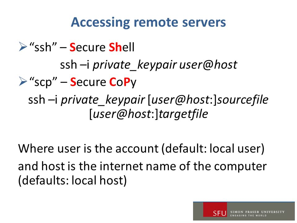 Accessing remote servers