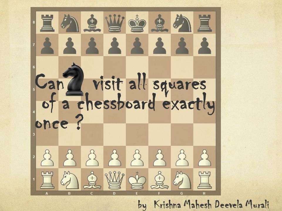 Can visit all squares of a chessboard exactly once