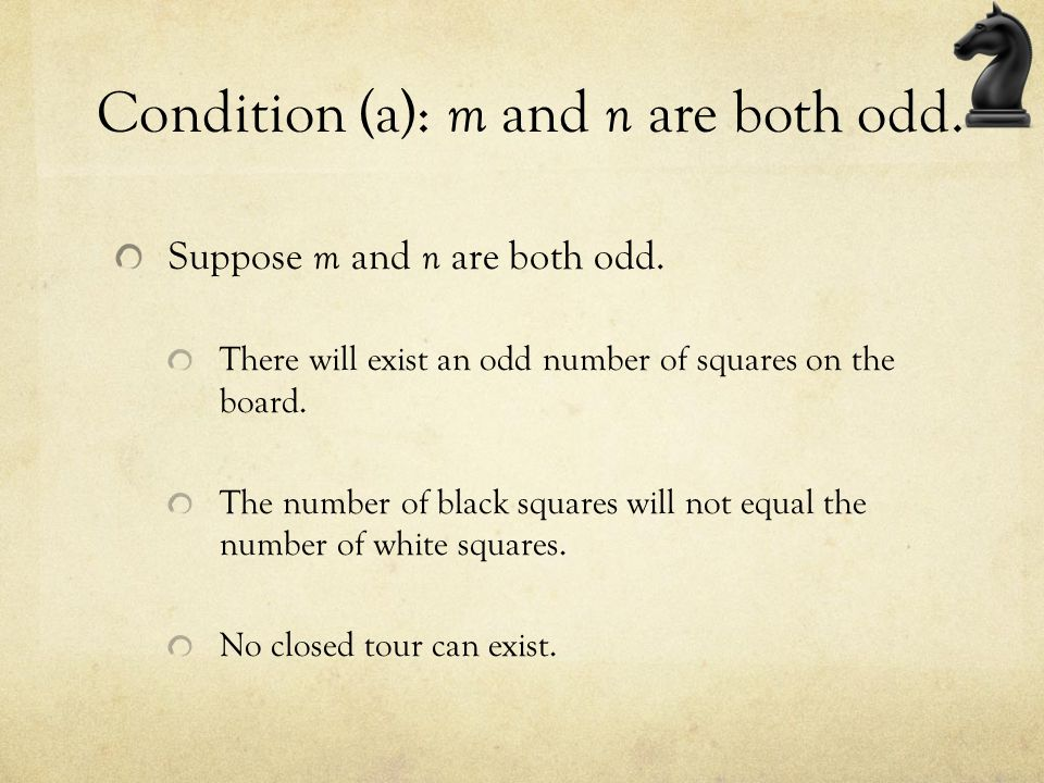 Condition (a): m and n are both odd.