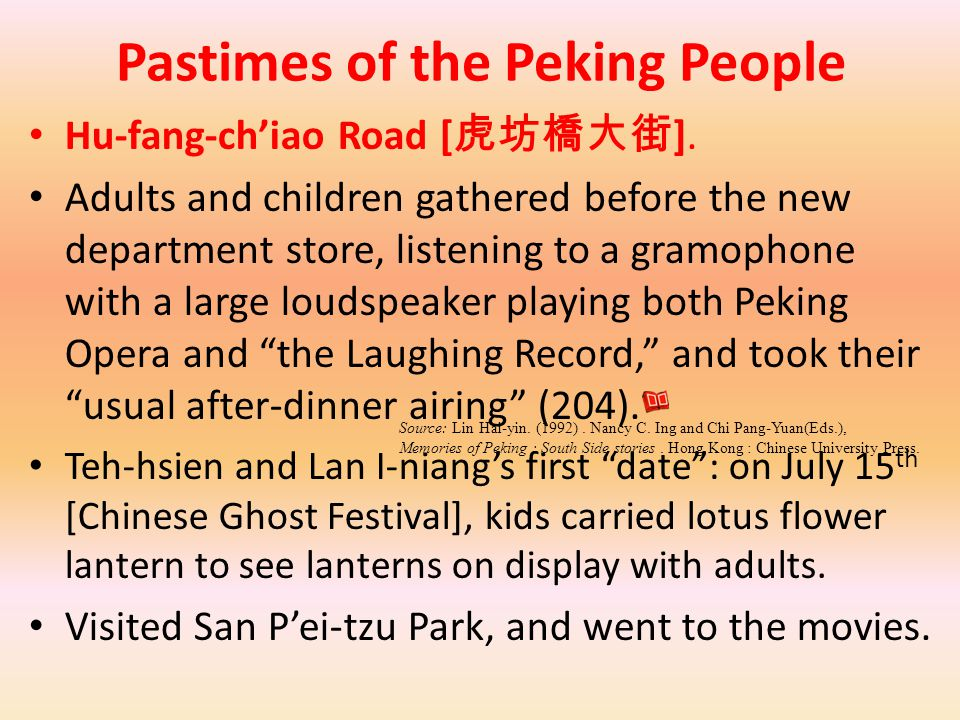 Pastimes of the Peking People