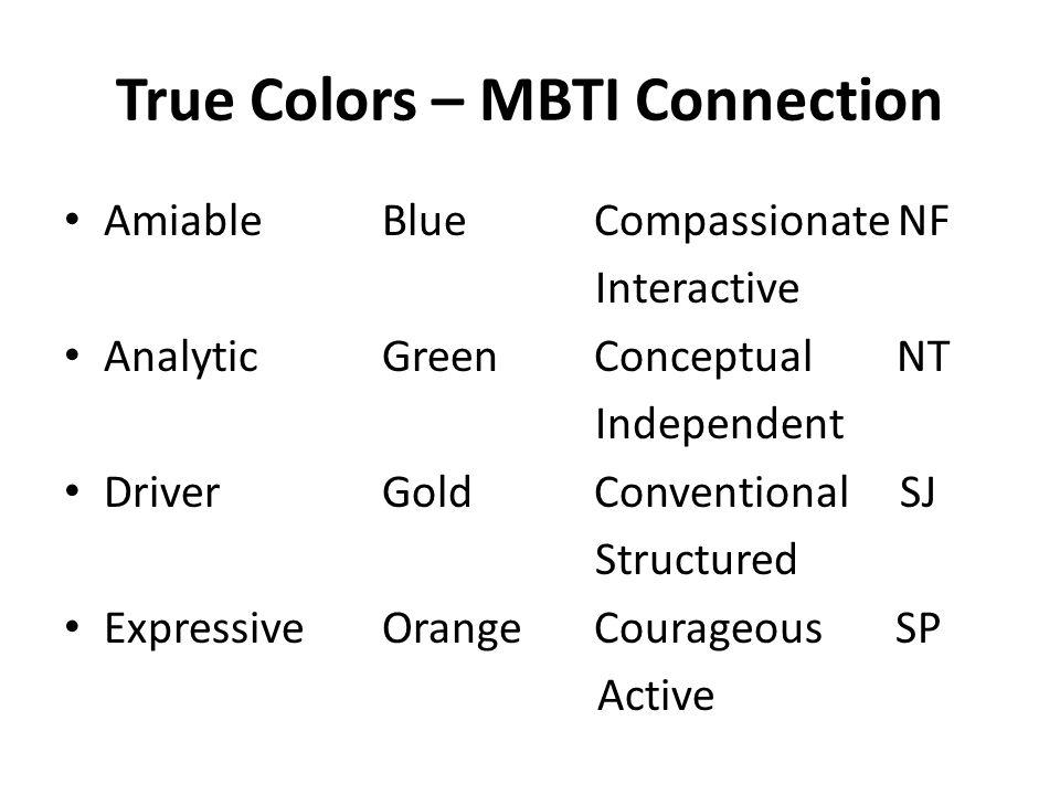 True Colors – MBTI Connection
