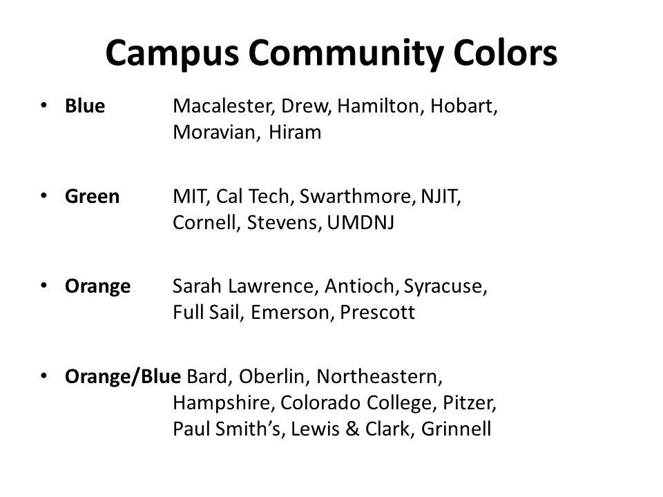Campus Community Colors