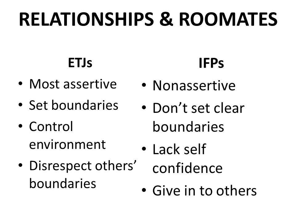 RELATIONSHIPS & ROOMATES