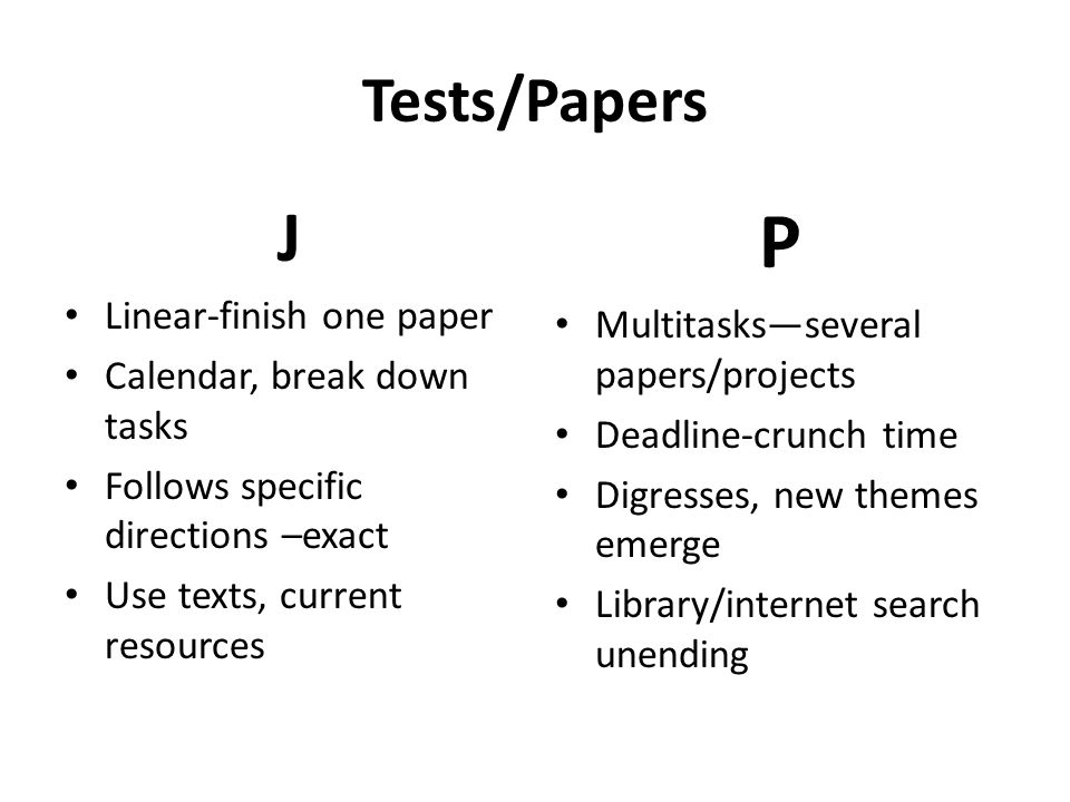 P J Tests/Papers Linear-finish one paper