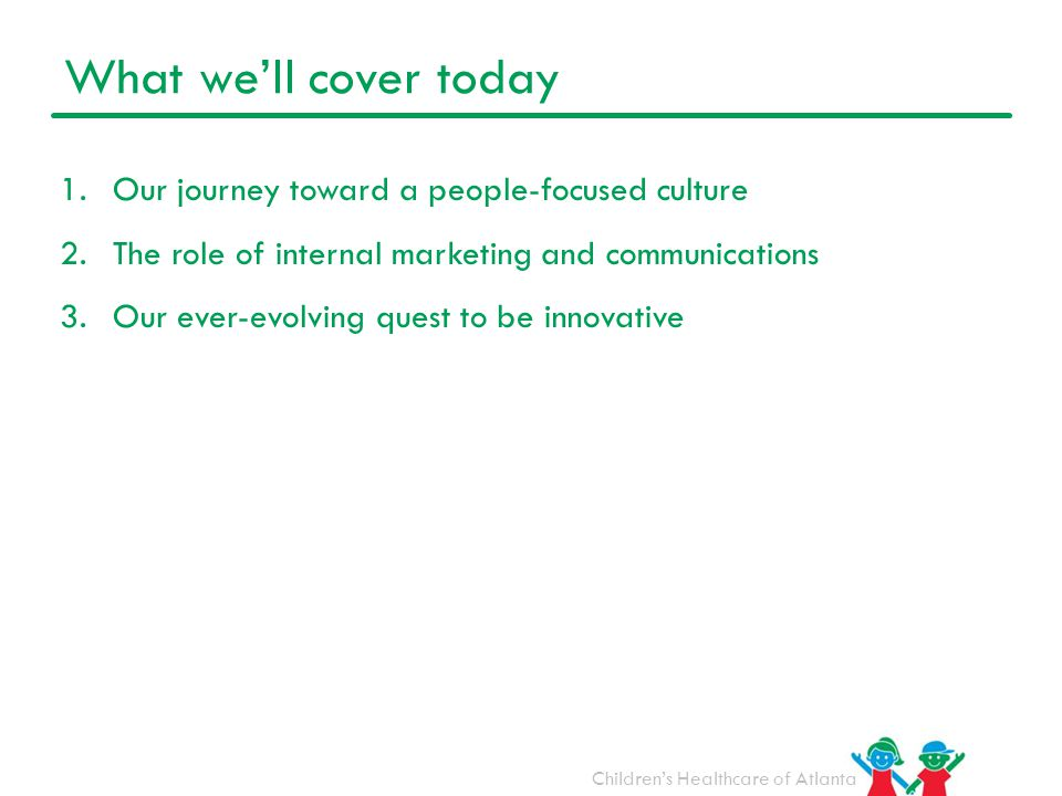 What we'll cover today Our journey toward a people-focused culture